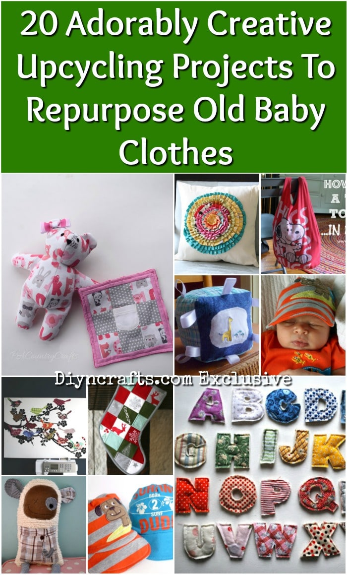 20 Adorably Creative Upcycling Projects To Repurpose Old Baby Clothes {With tutorial links}