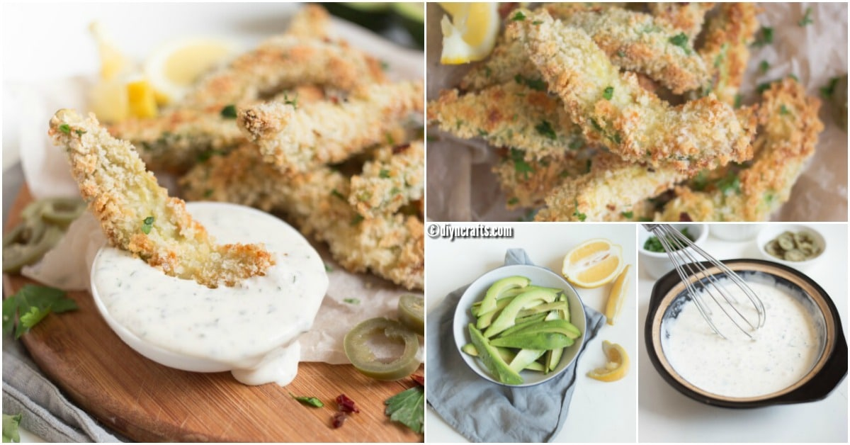 Baked Avocado Fries With Jalapeno Sauce Recipe – A Healthy And Delicious Snack