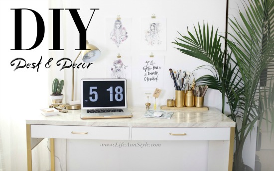 5 Easy Projects to Transform and Organize Your Desk + IKEA Hacks