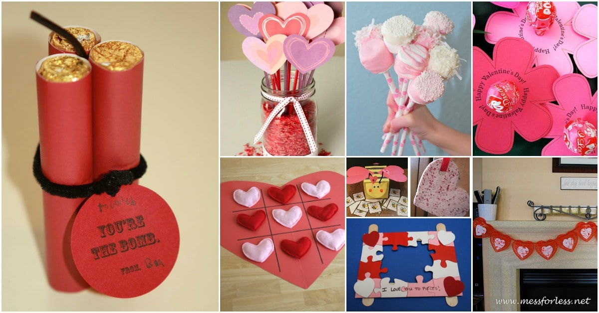 20 adorable and easy diy valentine 39 s day projects for kids for Kids valentines day craft