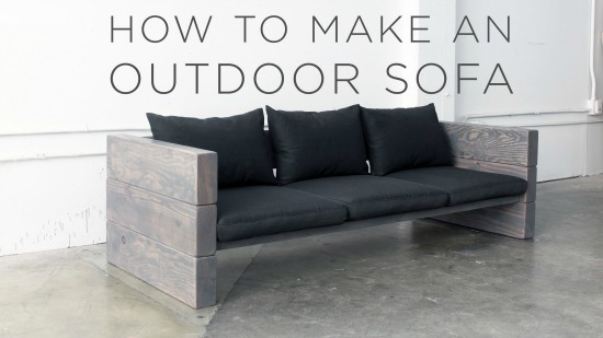 How To Build A Rustic Outdoor Sofa The Easy Way Diy Amp Crafts
