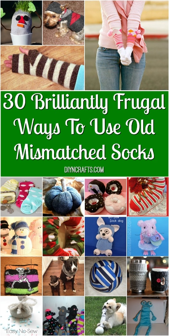 30 Brilliantly Frugal Ways To Use Old Mismatched Socks