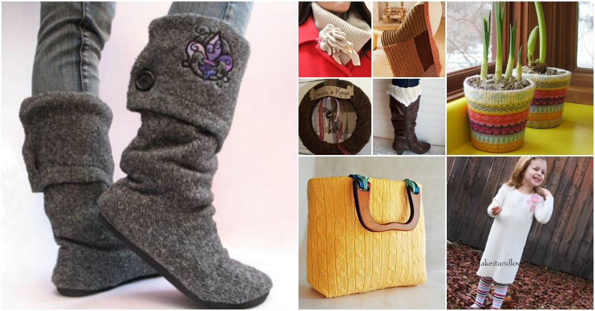 50 Amazingly Creative Upcycling Projects For Old Sweaters