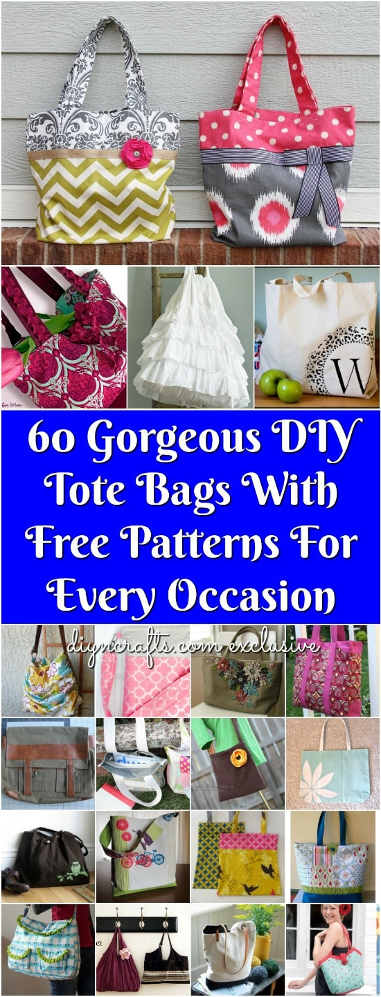 1e47e296e1 60 Gorgeous DIY Tote Bags With Free Patterns For Every Occasion ...