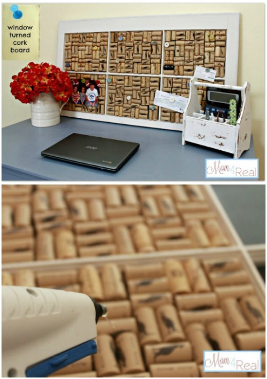 DIY Window Corkboard