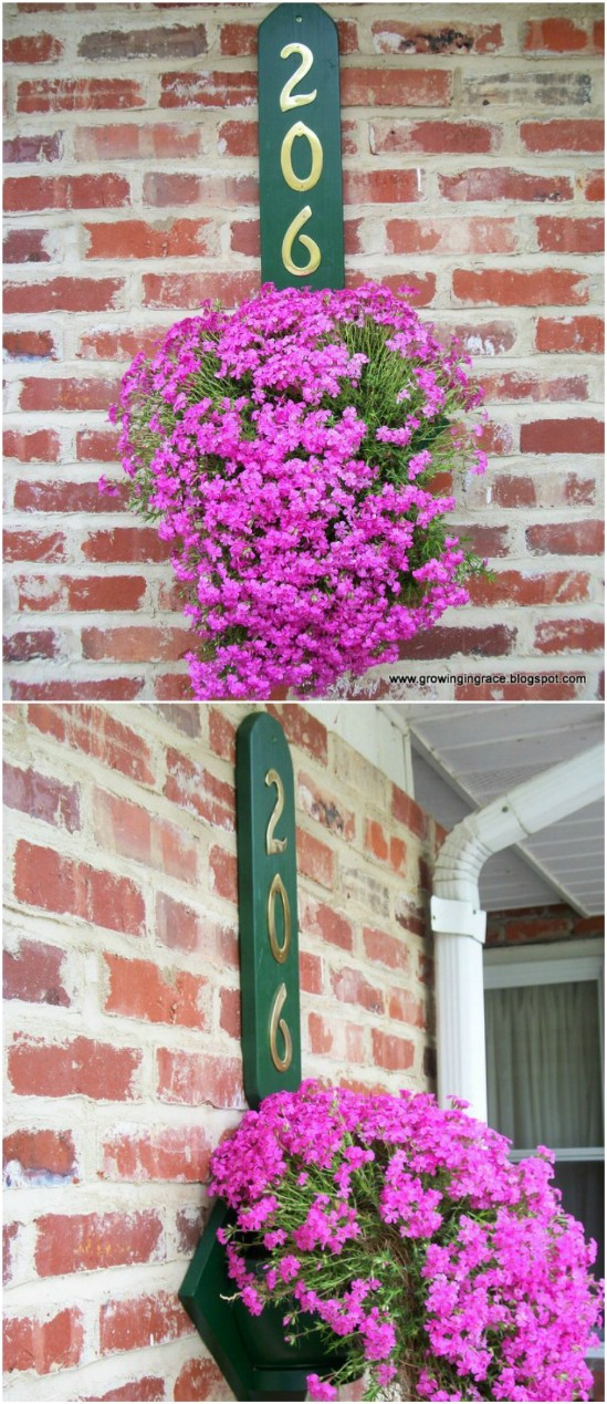 DIY House Number Flower Hanger