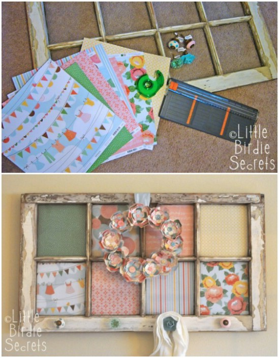 Creative Altered Window Frame Display