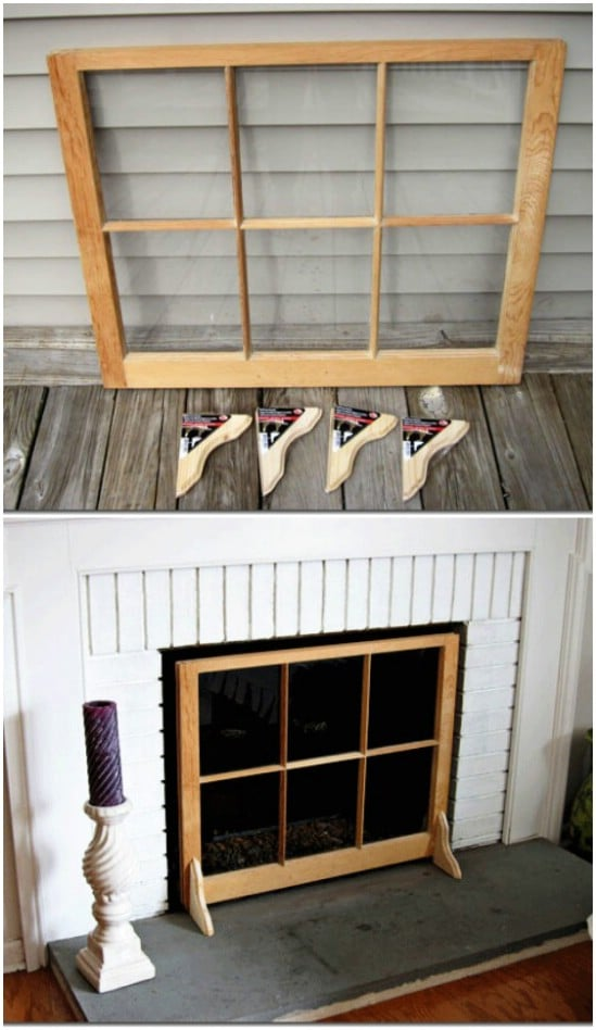 DIY Fireplace Screen