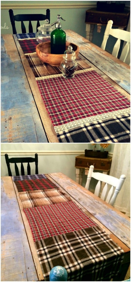 Flannel And Lace Table Runner
