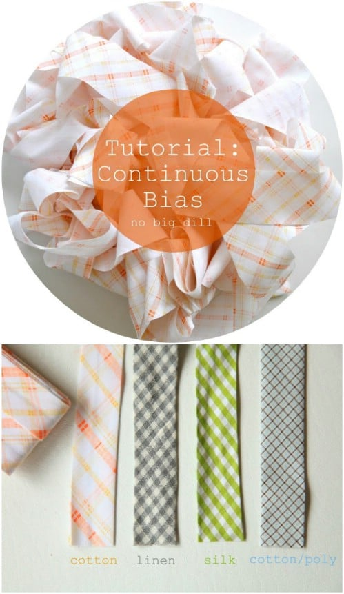Make Your Own Continuous Bias Tape