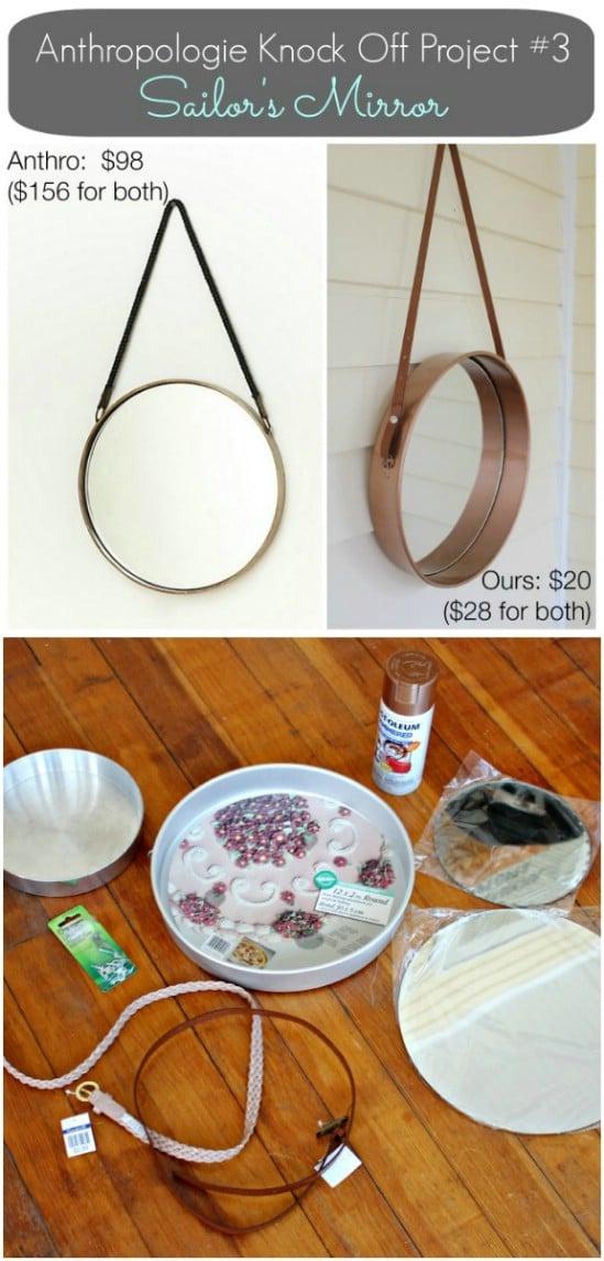 DIY Sailor's Mirror From Cake Pan – Anthropologie Knockoff