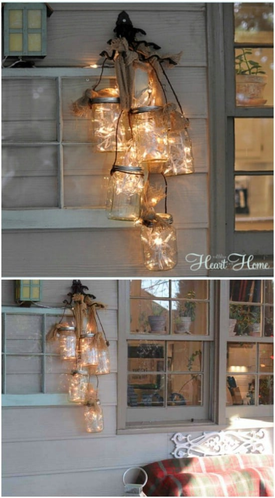 Outdoor Jar Chandelier