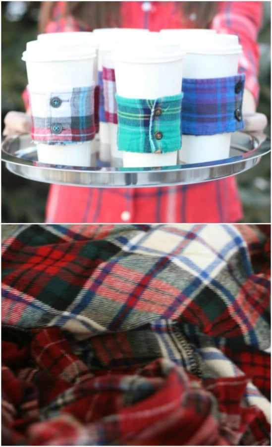 Flannel Cup Cozies