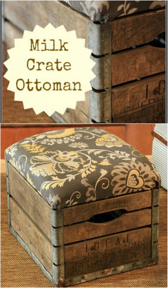 ottoman ottomans wine from crate old crates ideas wood diy easy storage wooden