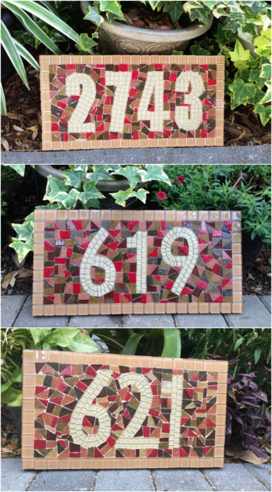 Colorful Mosaic Plaque Display