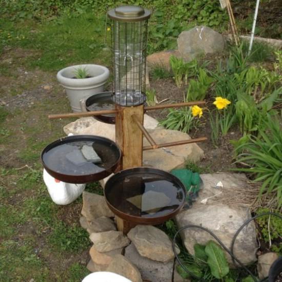 DIY Garden Bird Bath