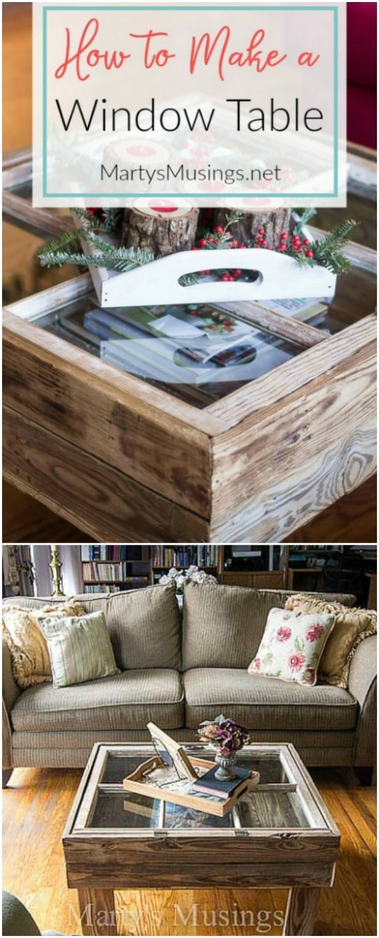 DIY Easy Window Table