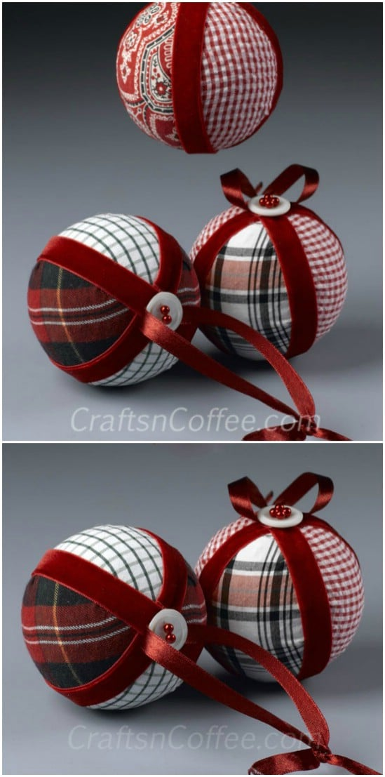Flannel Patchwork Ornaments