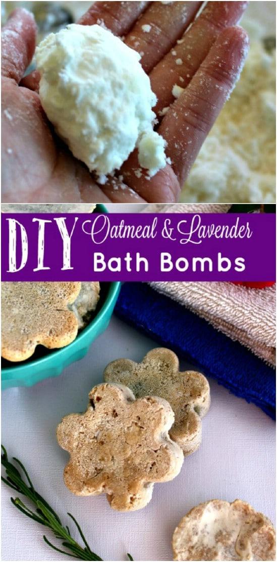 Lavender Oatmeal Bath Bombs