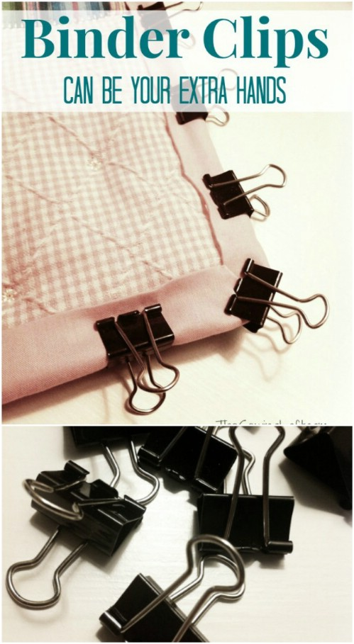 Use Binder Clips To Hold Fabric Together