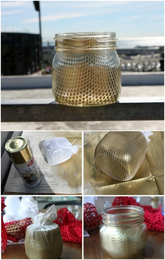 Decorative Fishnet Jars