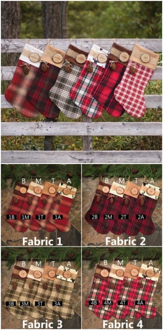 Christmas Flannel Stockings