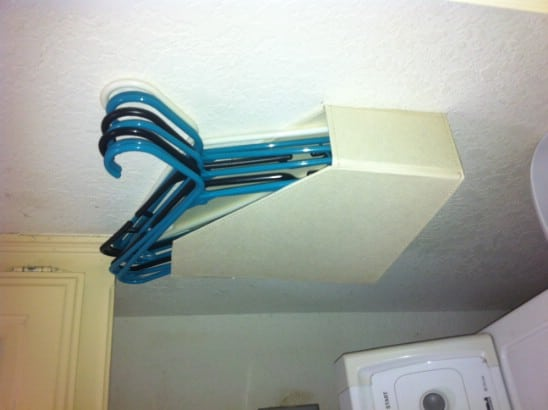 Genius Laundry Room Hanger Holder