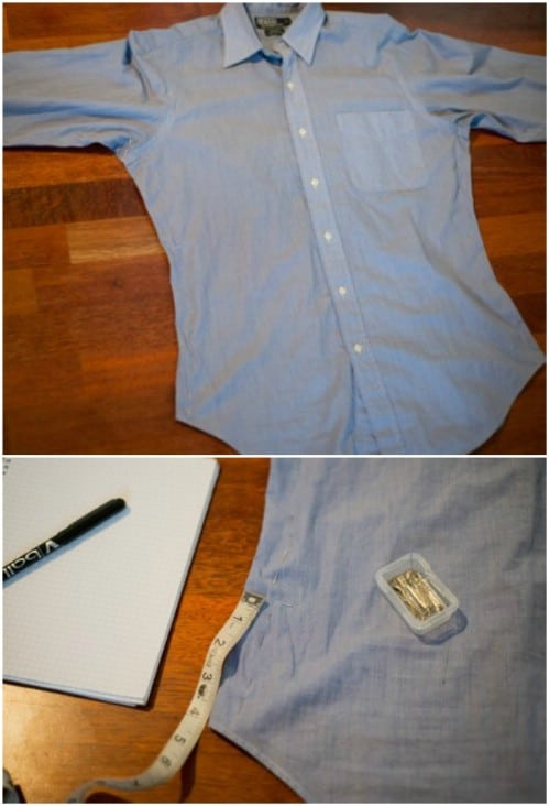 Easy Method For Taking In Dress Shirts
