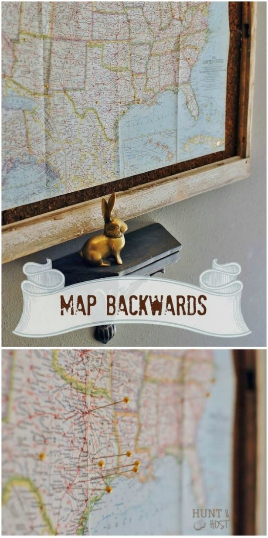 Vintage Map Display