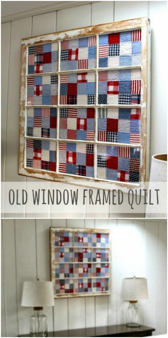 Rustic DIY Quilt Display