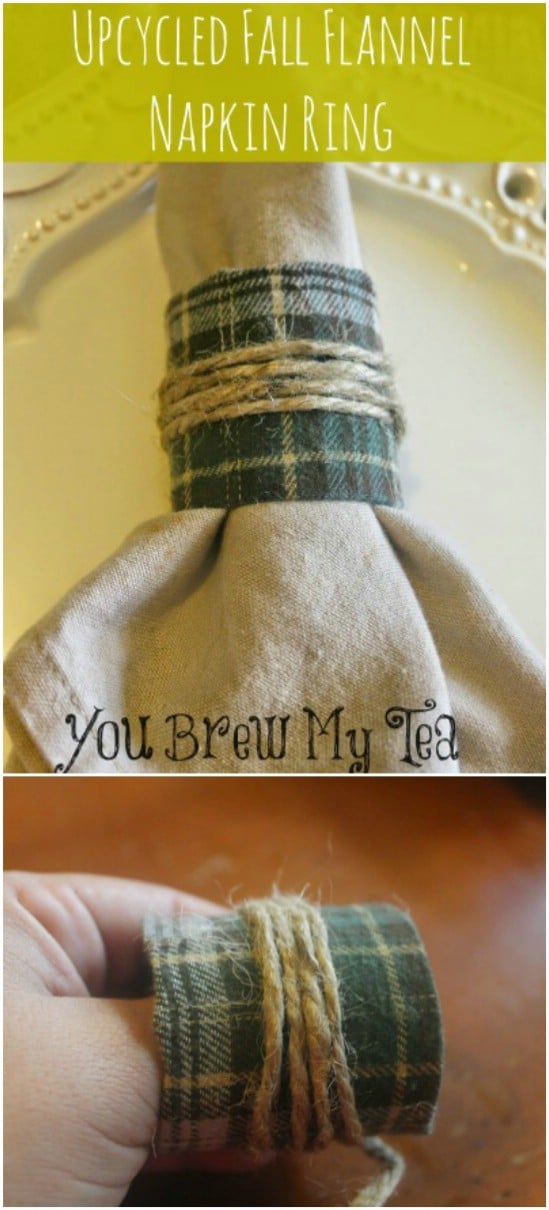 Easy Flannel Napkin Rings