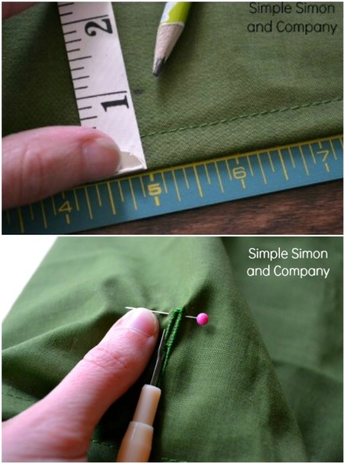 Pinning A Button Hole