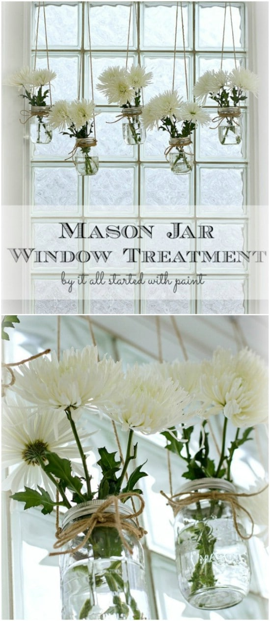Mason Jar Window Treatment