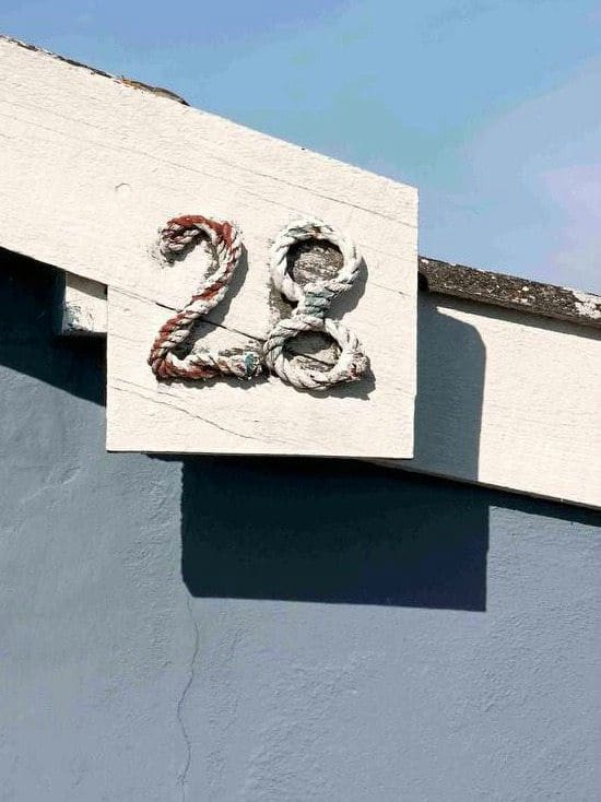 Rustic Cottage Rope Numbers