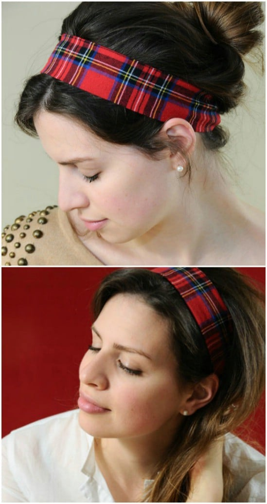 Gorgeous DIY Flannel Headband