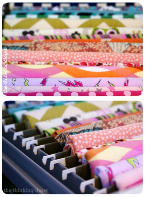 Easily Store Extra Fabric