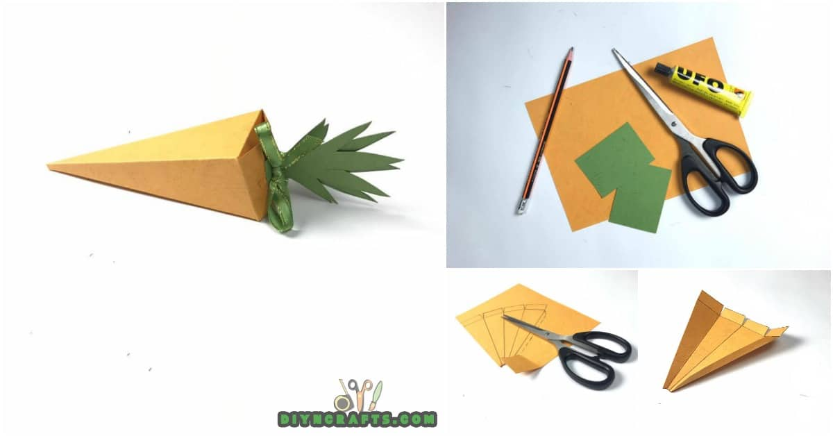 How to Create an Easy Easter Paper Carrot Box - Video ...
