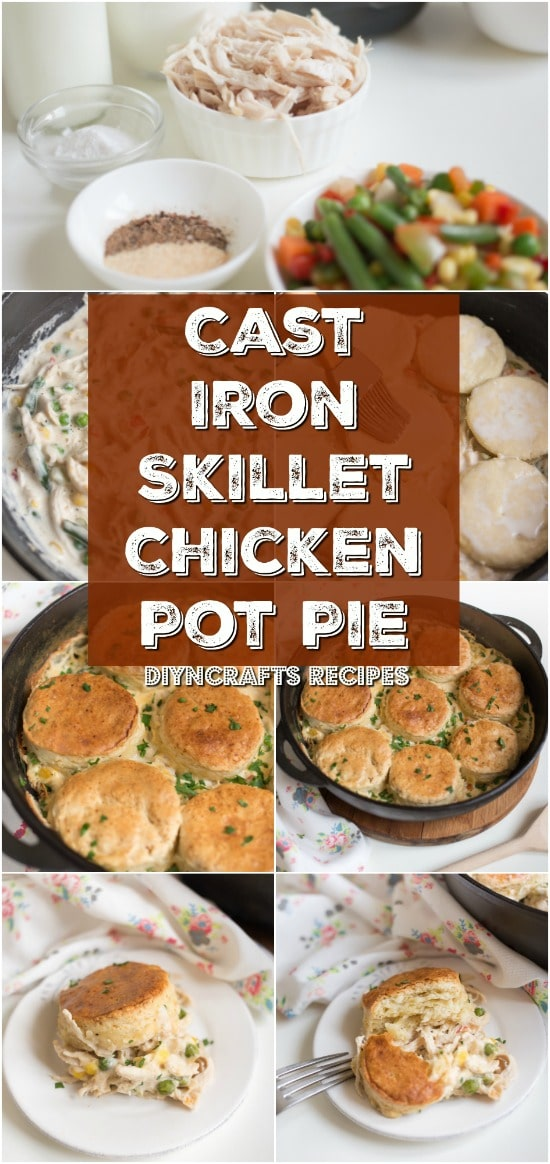 Easy And Delicious – Cast Iron Skillet Chicken Pot Pie Is A Family Dinner Favorite {DIYnCrafts Recipes}