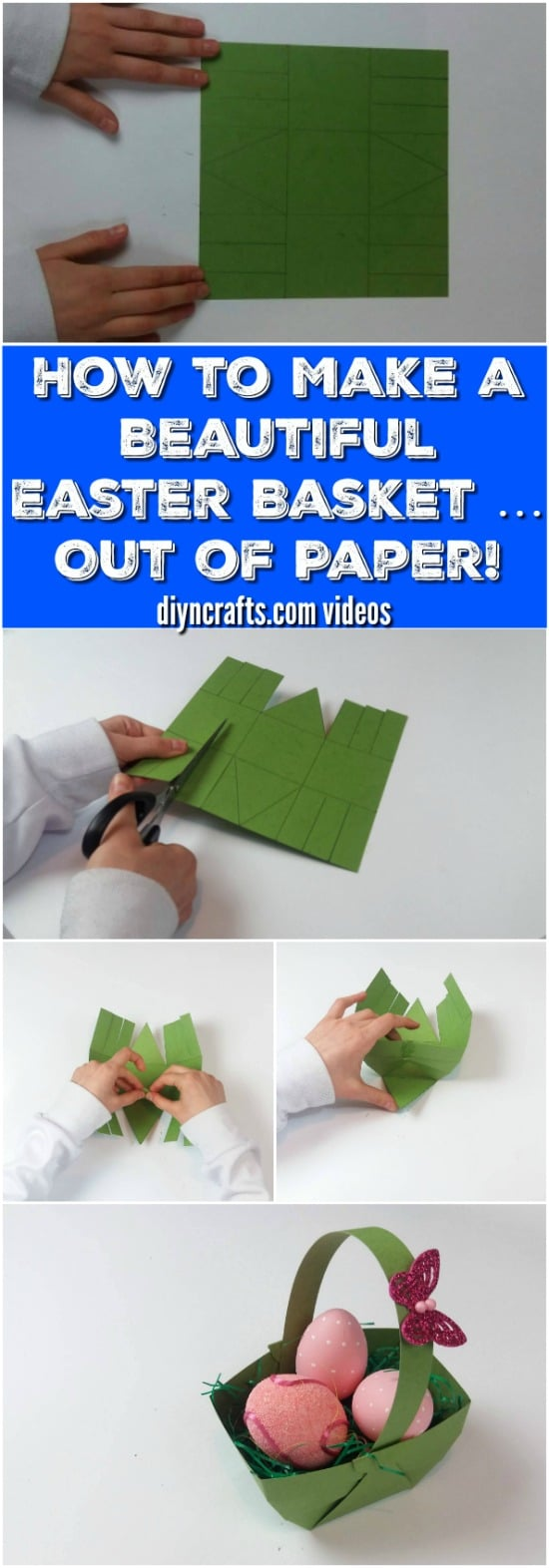 How To Make A Flower Paper Basket : Here is how to make a beautiful easter basket out of