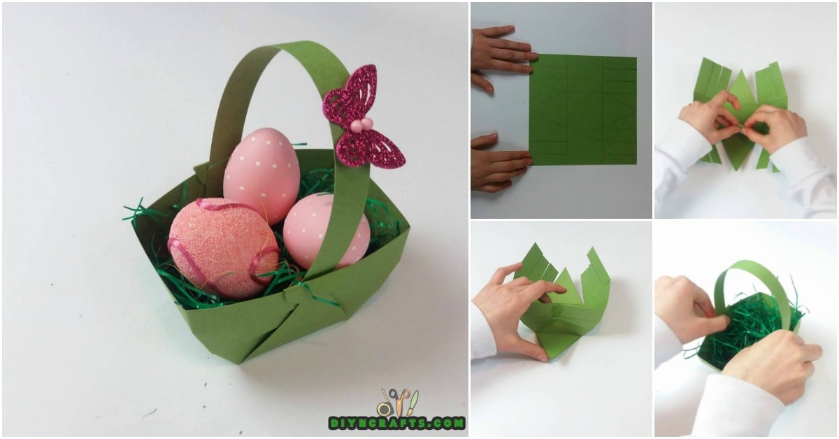 Here Is How To Make A Beautiful Easter Basket Out Of Paper Diy