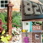 25 Creative And Unique Projects For Beautifully Displaying House Numbers