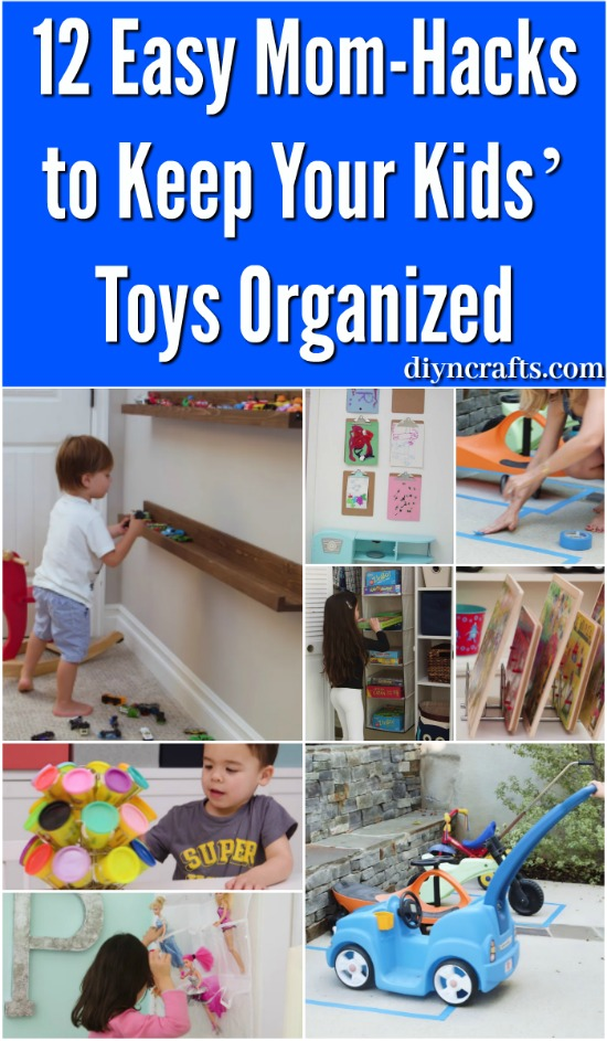 12 Easy Mom-Hacks to Keep Your Kids' Toys Organized {Video tutorials}