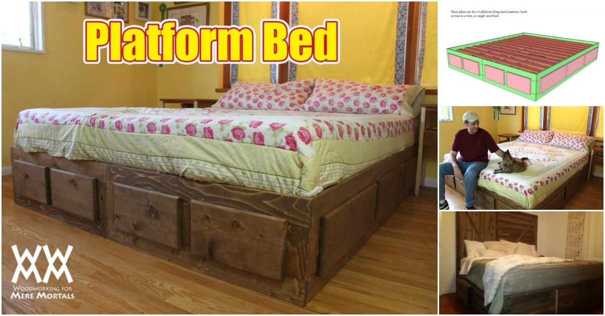 How to Build a King Size Bed With Extra Storage Underneath Free Plans! : platform bed with storage underneath  - Aquiesqueretaro.Com