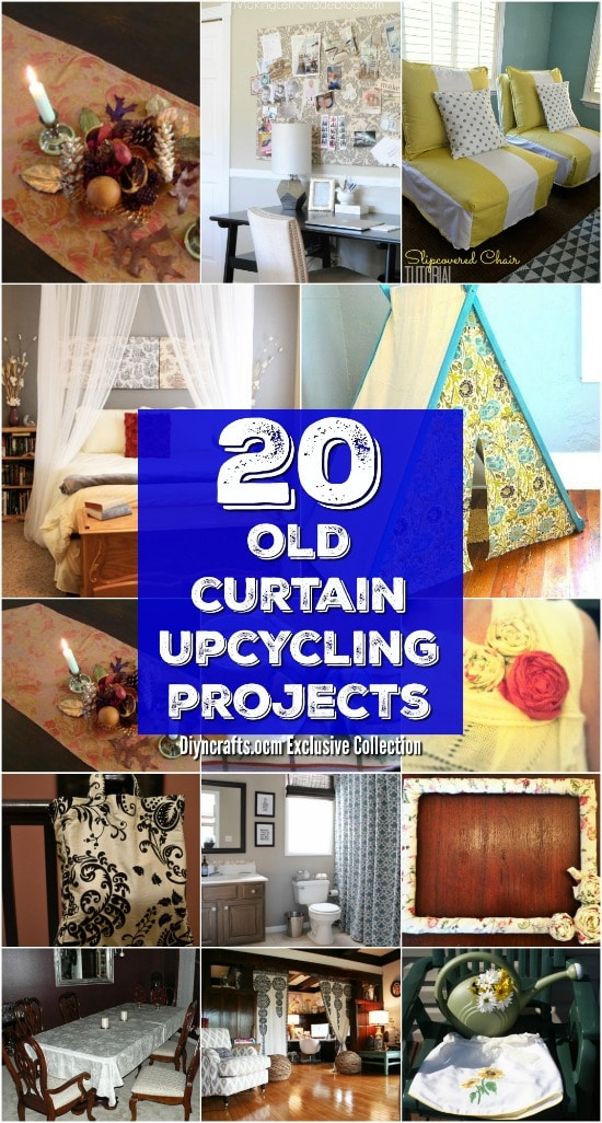20 repurposing ideas to make good use of old curtains diy crafts
