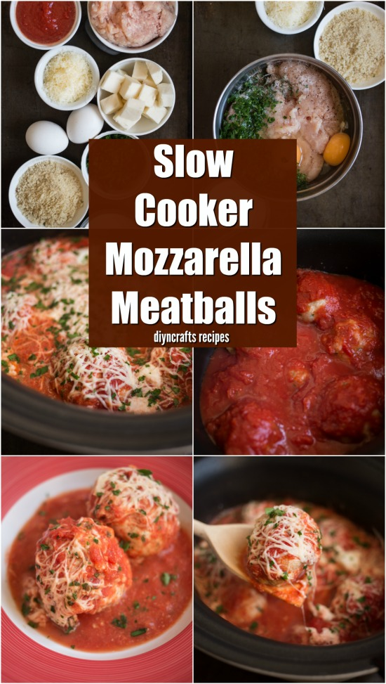 Pair These Slow Cooker Mozzarella Meatballs With Your Favorite Pasta!