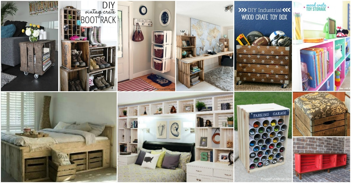 25 Wood Crate Upcycling Projects For Fabulous Home Decor