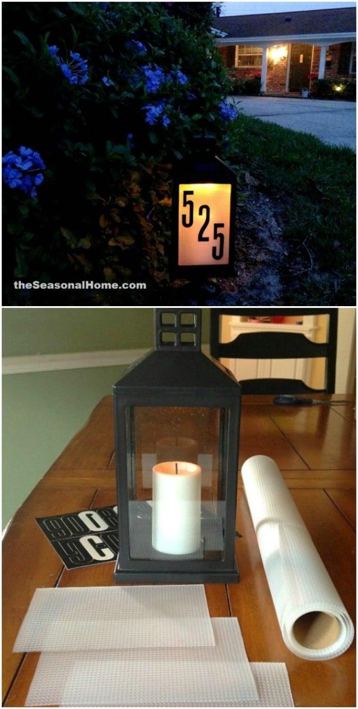 20 solar light repurposing ideas to brighten up your outdoors diy diy solar address sign solutioingenieria Gallery