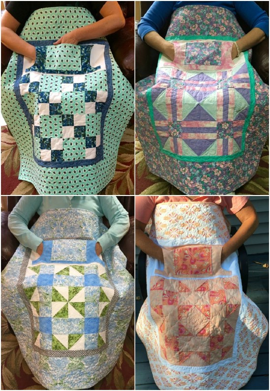 keep nursing home residents warm with a handmade lap quilt