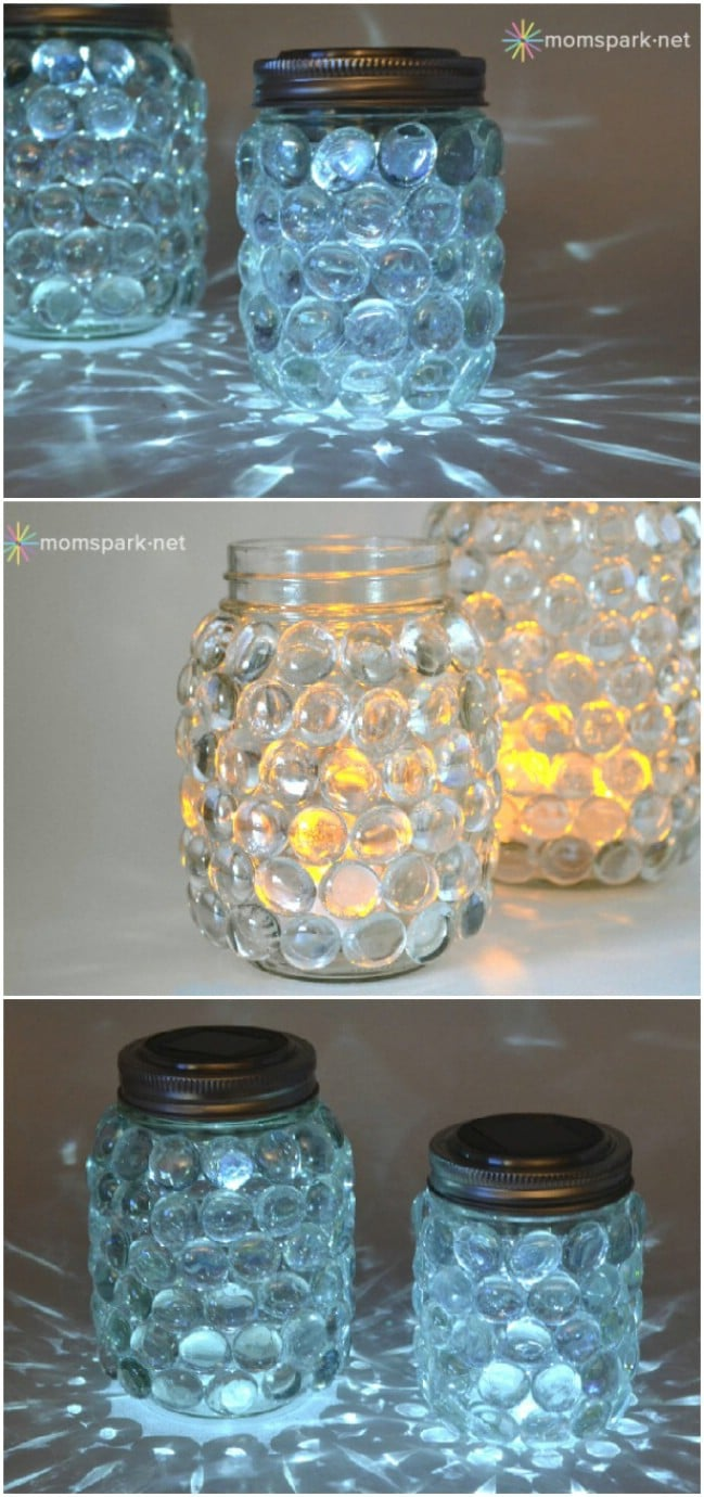 20 solar light repurposing ideas to brighten up your for Solar lights for craft projects