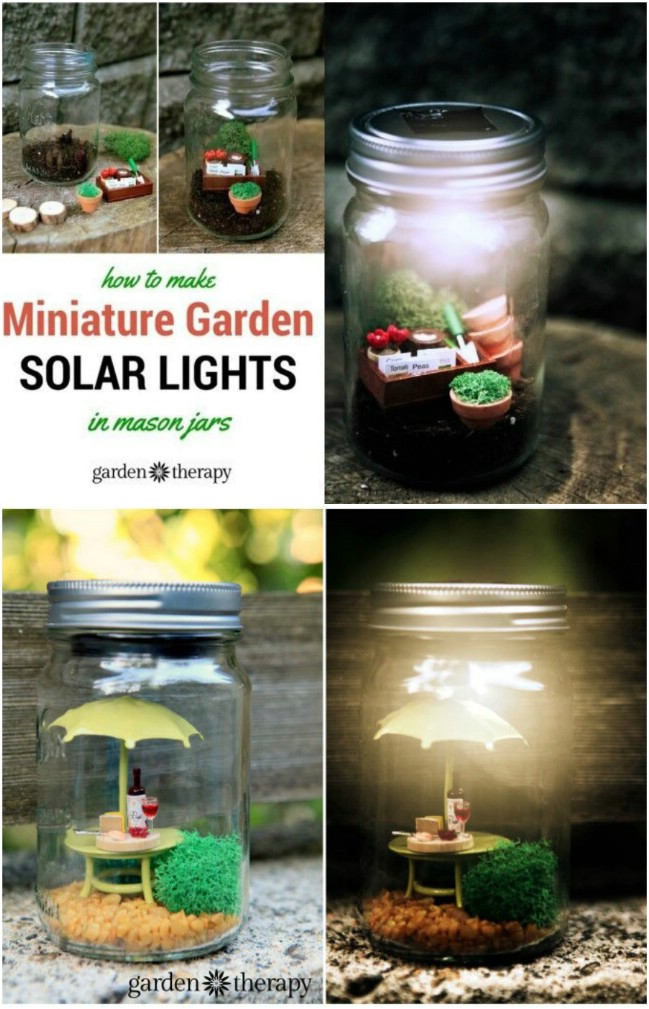 Charming DIY Miniature Fairy Solar Jars